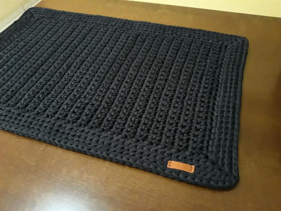 como fazer tapete de crochê retangular
