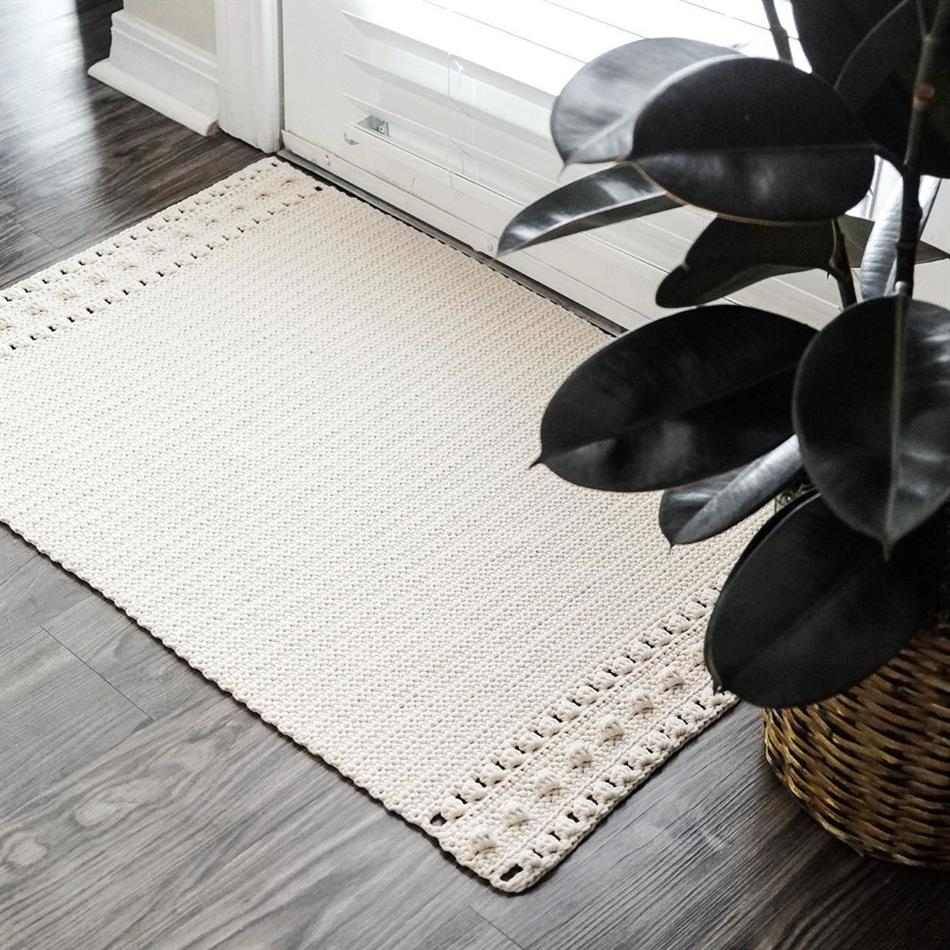 tapete de crochê fácil e rápido