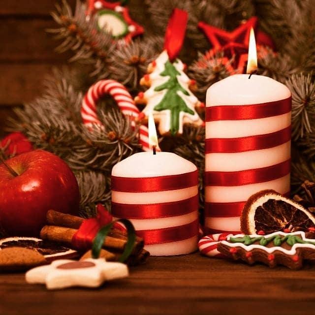 vela de Natal para decoração