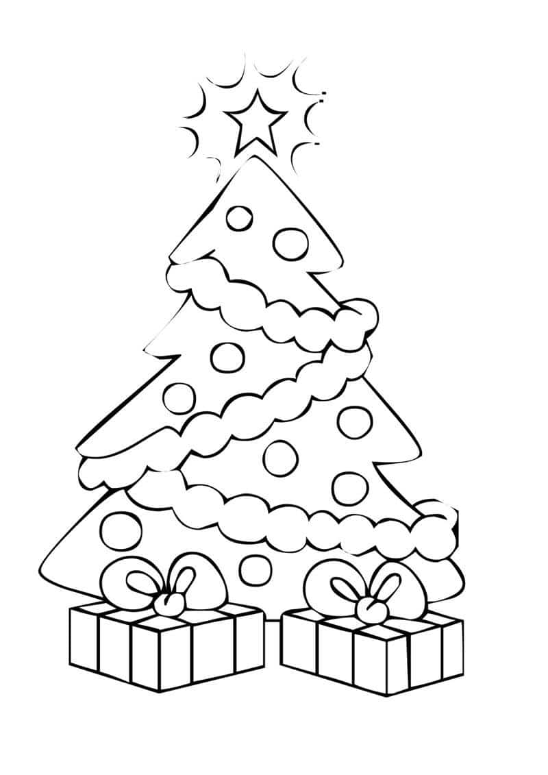 desenho de árvore de natal grande