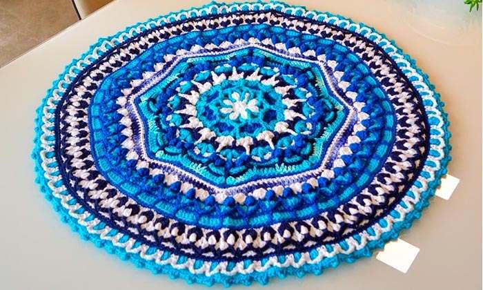 azul para mesa de jantar