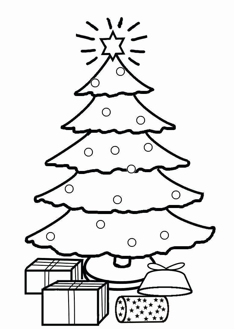 um desenho de árvore de natal