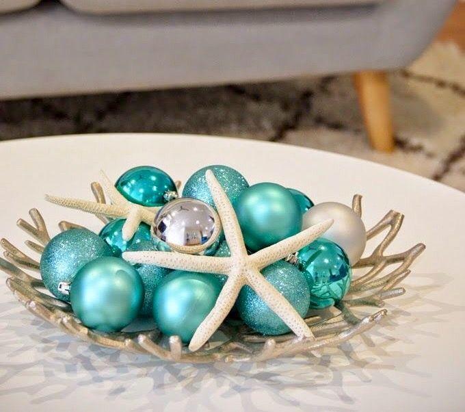 Enfeites de Natal para mesa com bolas