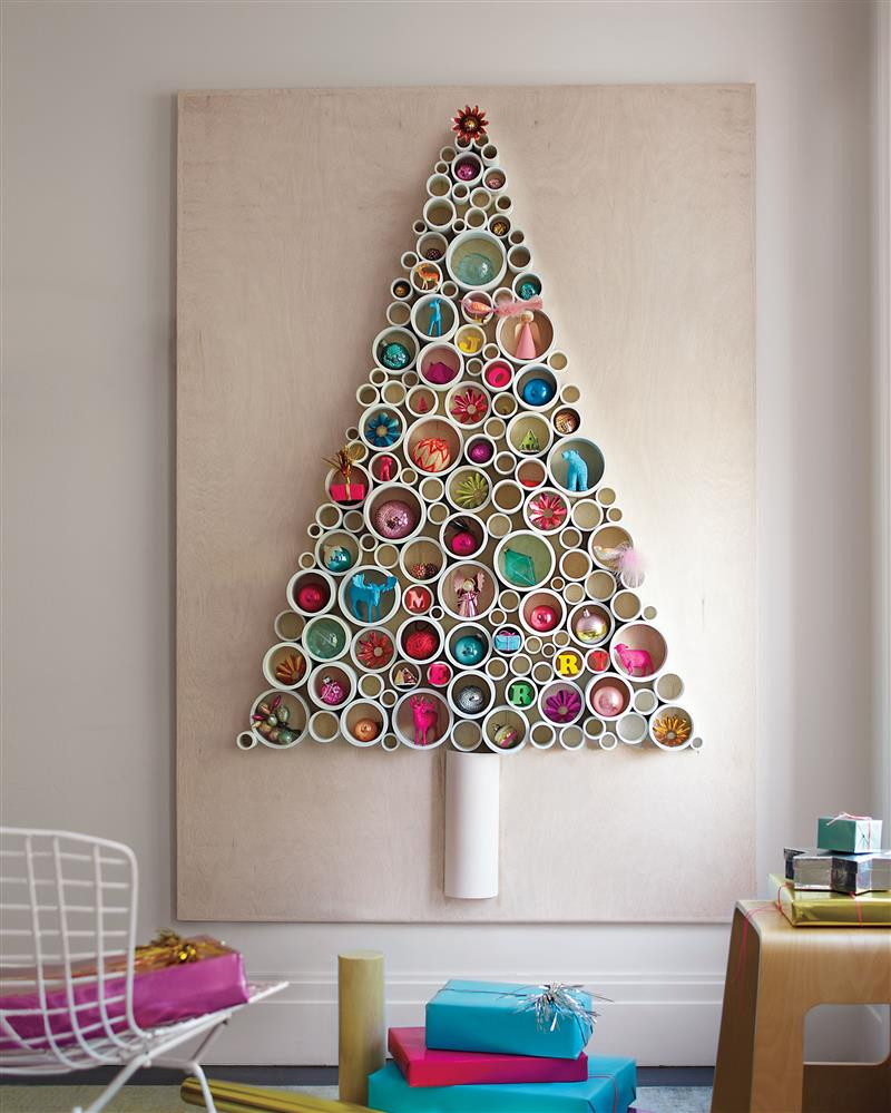 árvore de Natal de parede de pvc