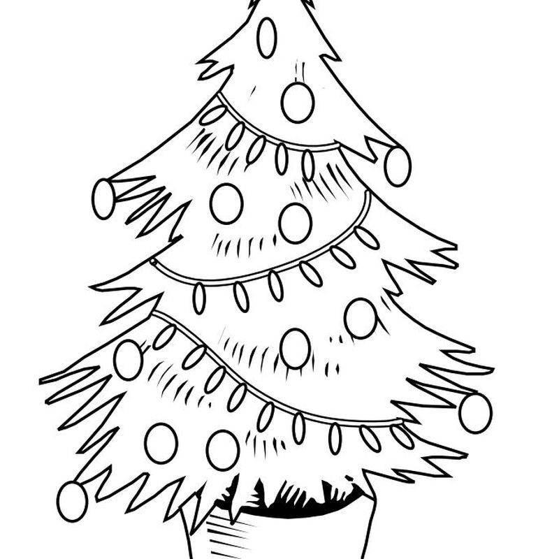 Desenhos de árvore de Natal com pisca pisca