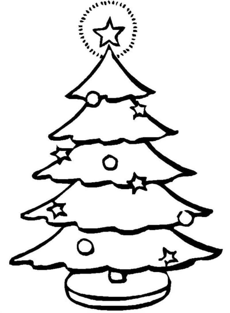 desenho de árvore de natal para desenhar