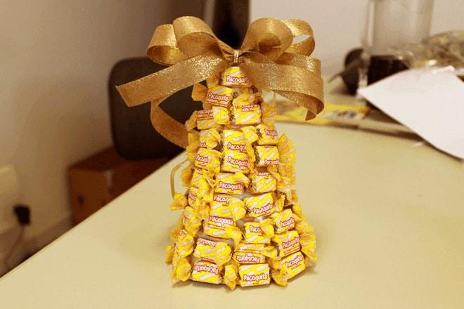 arvore de natal de doces