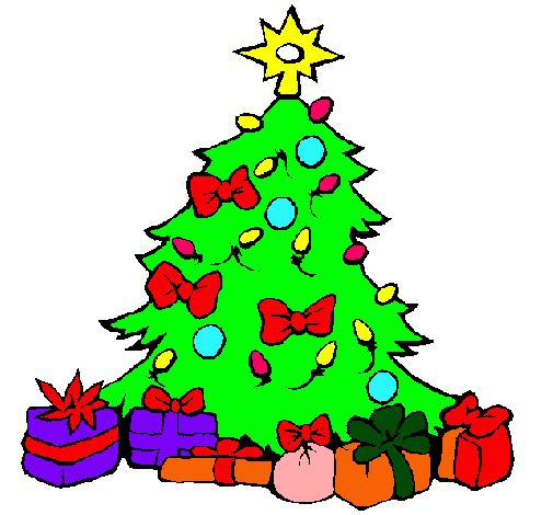 desenho de árvore de natal fácil