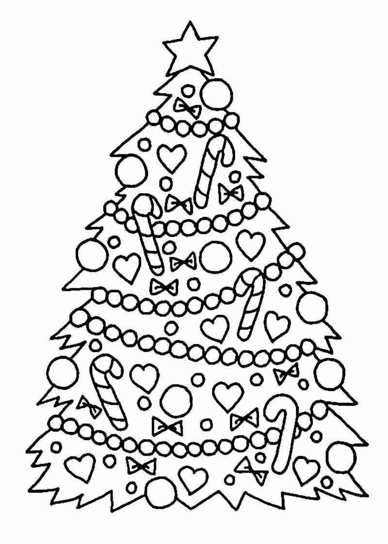 desenho de arvore de natal estilizada