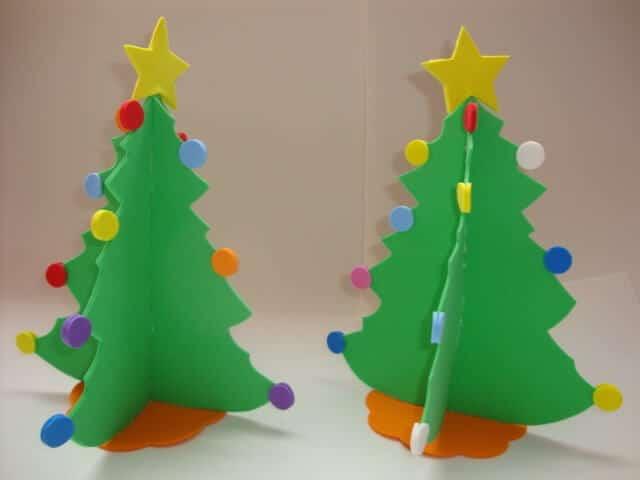 Mini árvore de Natal em EVA