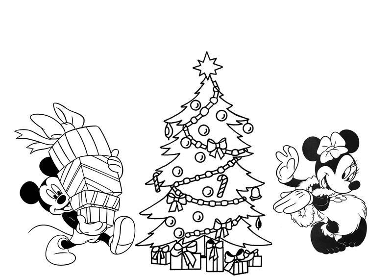 árvore de Natal com a Minnie e o Mickey