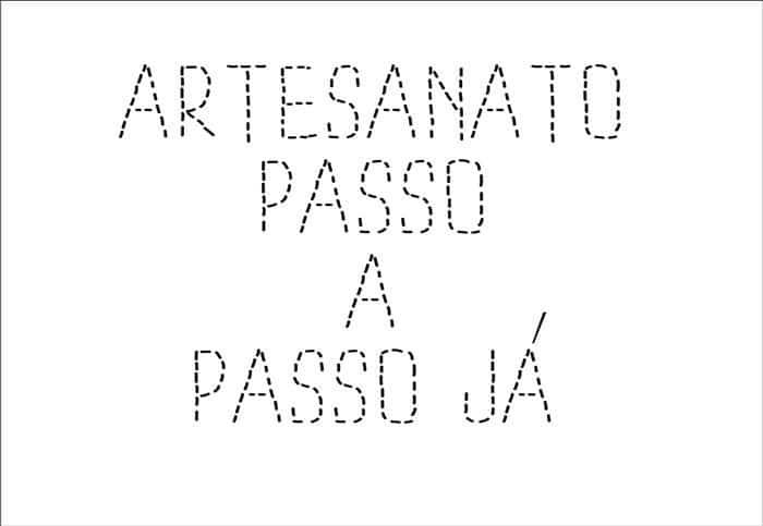 alfabeto pontilhado artesanato