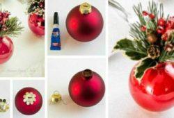 decoração criativa para sala com bolinhas de natal