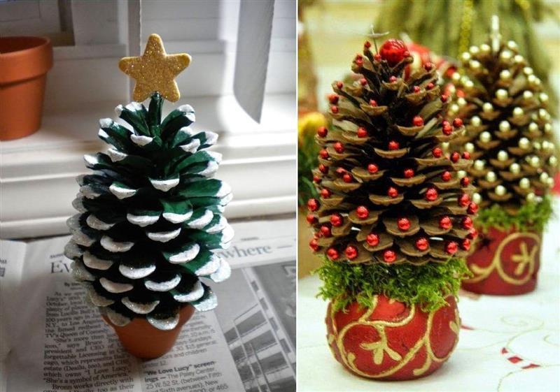 arvore de natal diferente de pinha