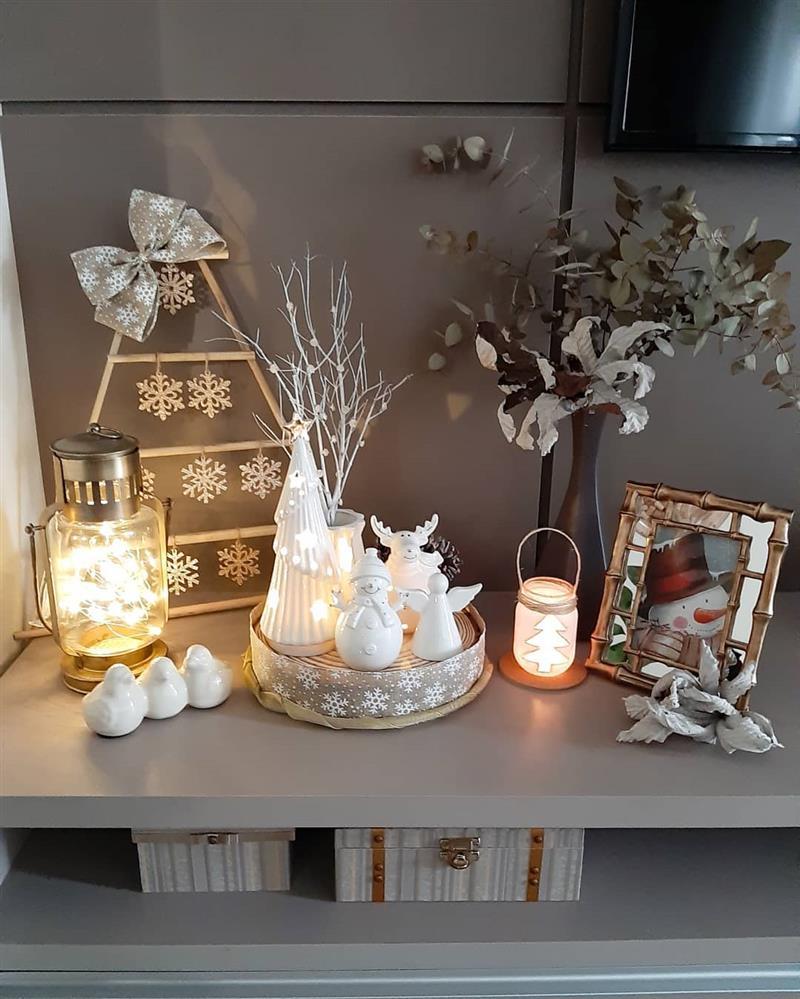 decoração de Natal para sala simples