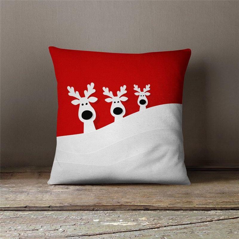 almofada de natal vermelha e branca