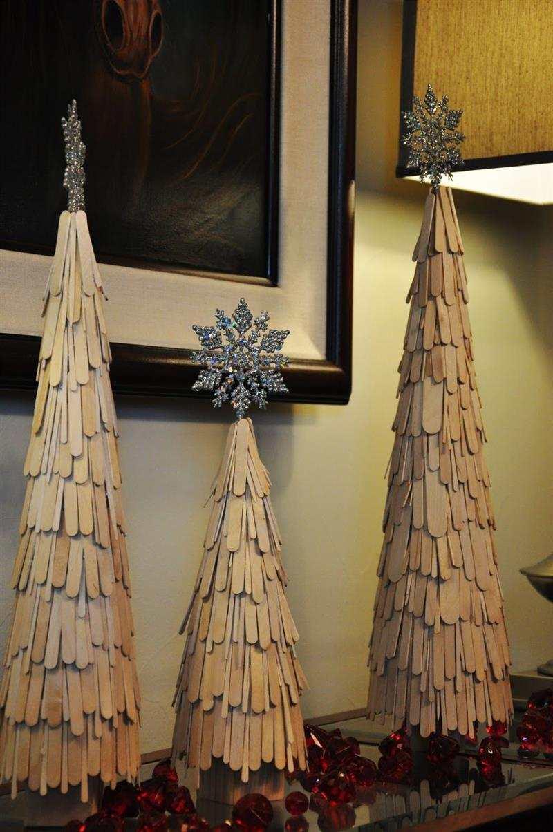 árvore de Natal de palito de picole
