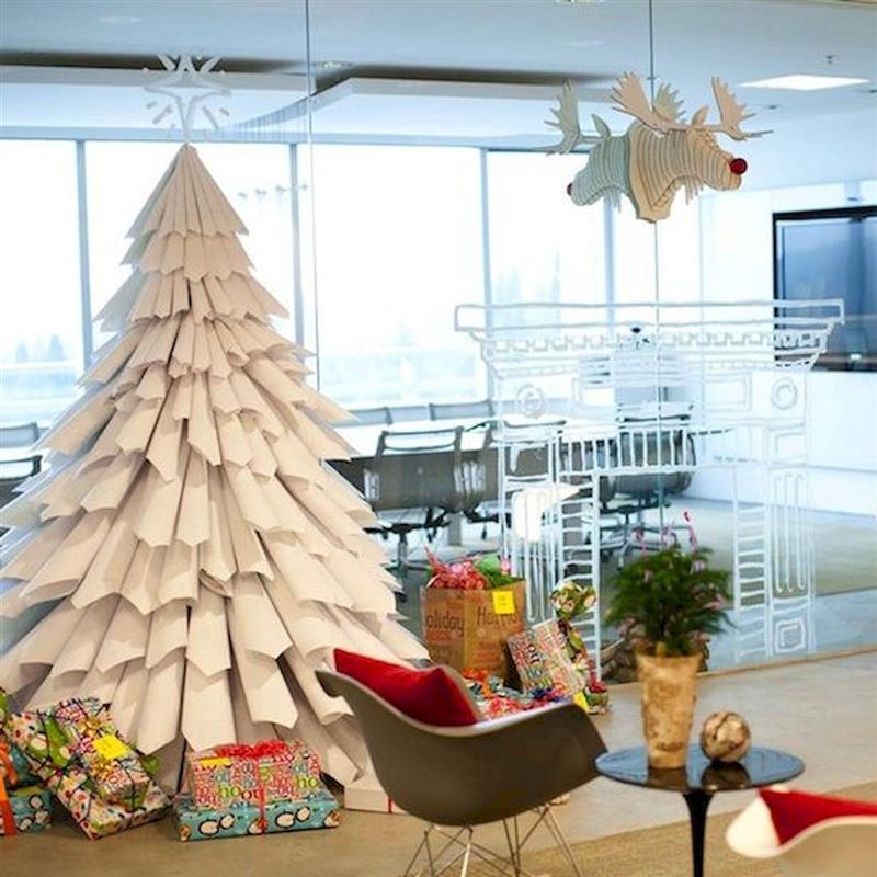 árvore de Natal de cartolina