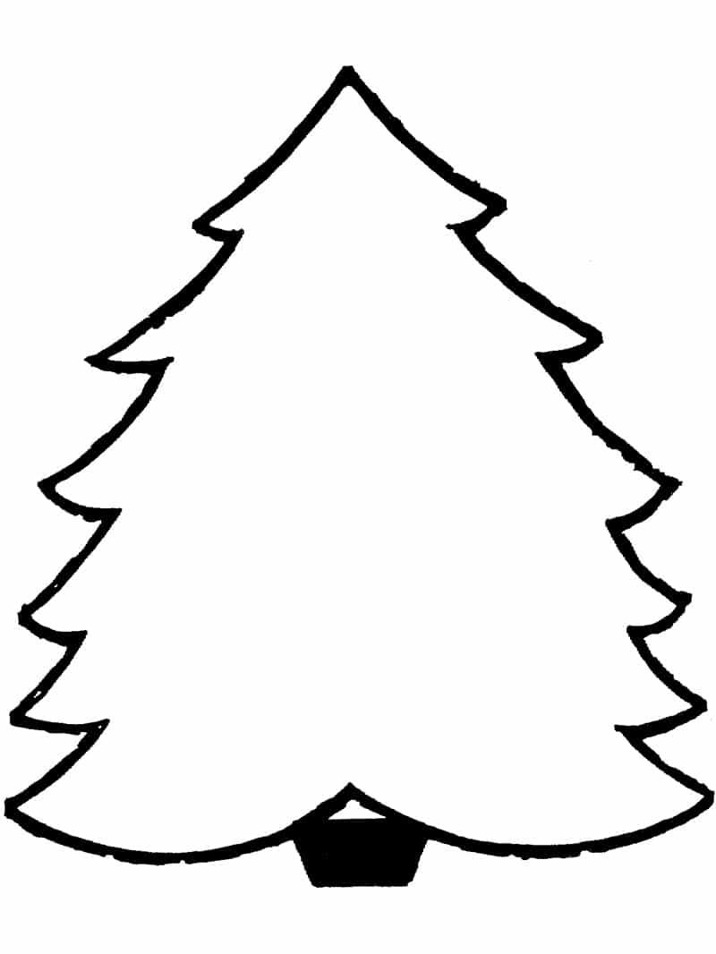 árvore de Natal simples para enfeitar
