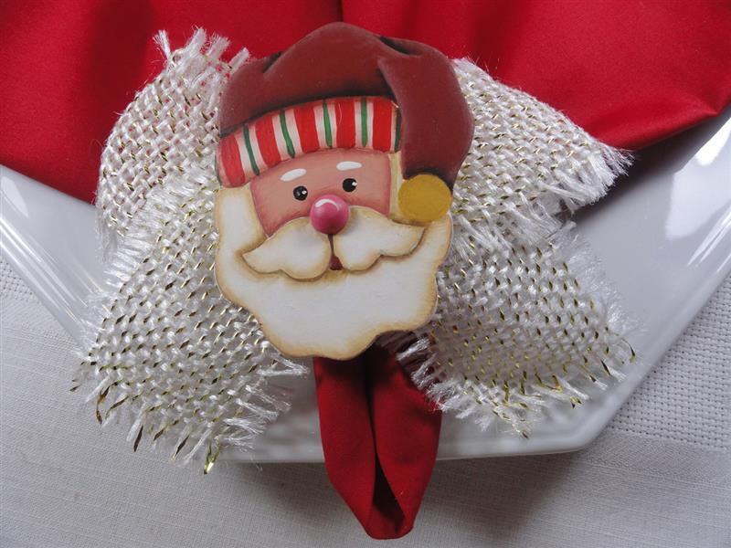 Porta guardanapo de Papai Noel em MDF