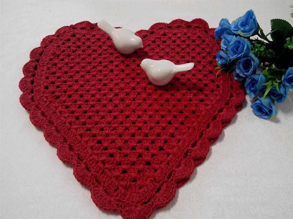 em formato de coração