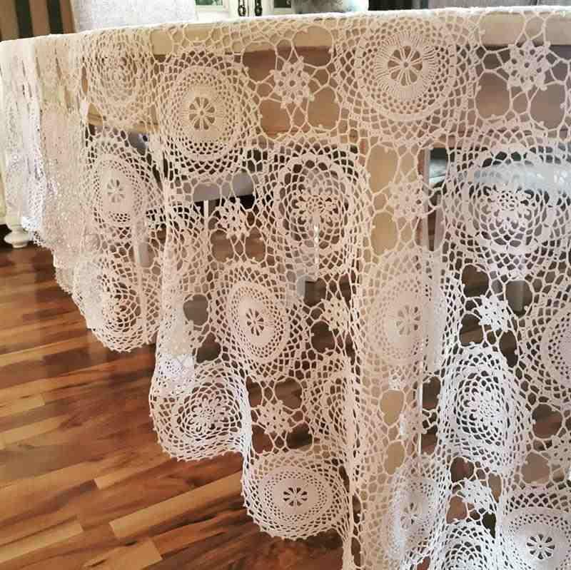 toalha de squares de croche