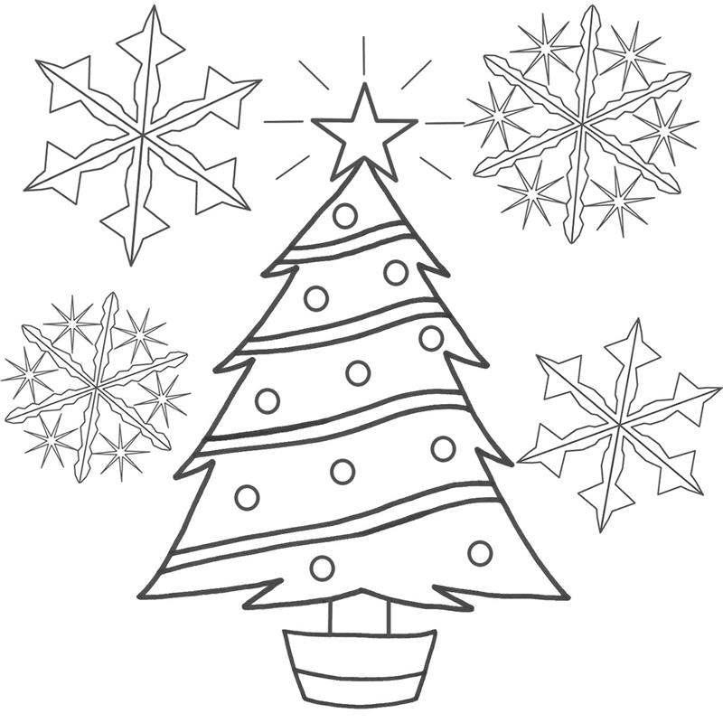 molde de desenho de arvore de natal