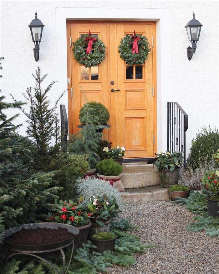 decoração de entrada para natal