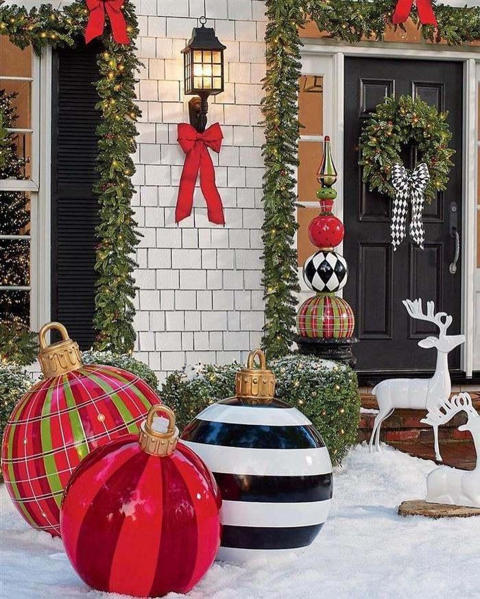decoração de natal de jardim
