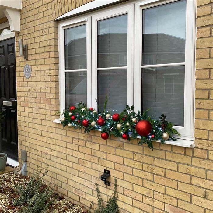 decoração de natal para janela externa