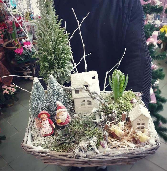 decoração de natal para jardim de inverno