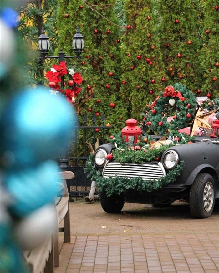 decoração de natal para jardim externo