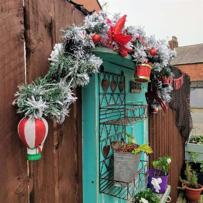 decoração de natal para jardim pequeno