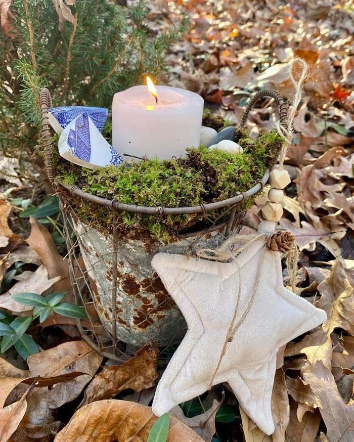 decoração de natal para jardim simples