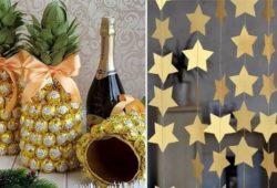 decoração de reveillon simples