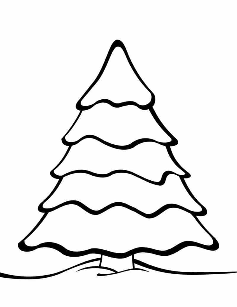 desenho de árvore de natal para imprimir