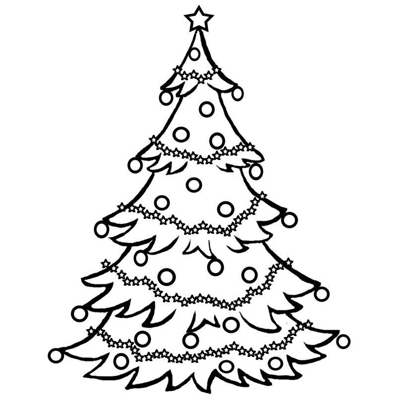desenho de árvore de natal passo a passo