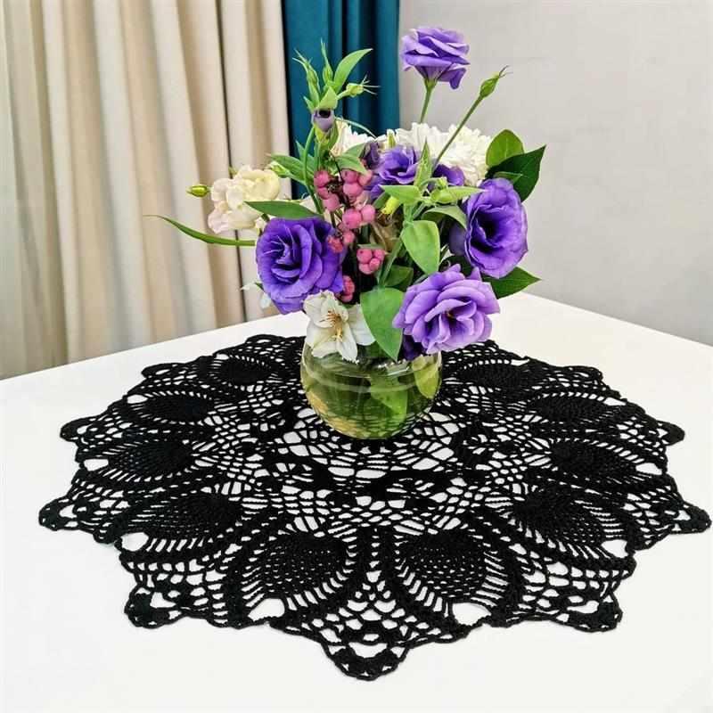 como fazer toalha de mesa de crochê
