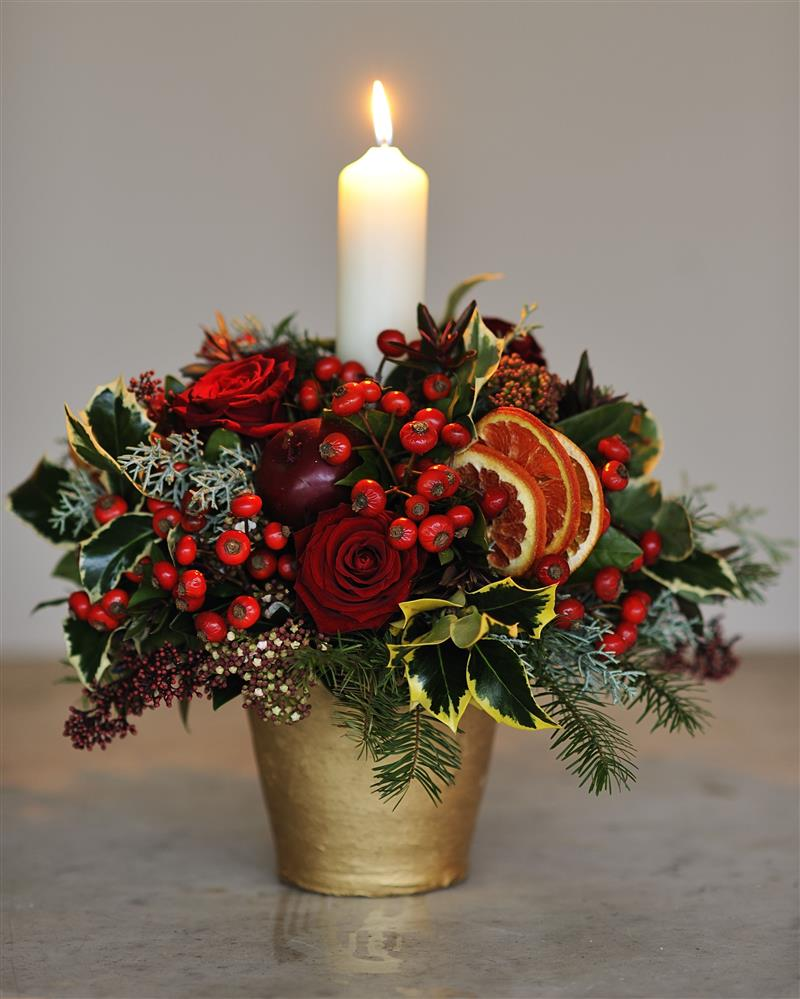 enfeite de Natal para centro de mesa de jantar