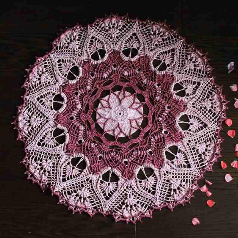 toalha redonda rosa