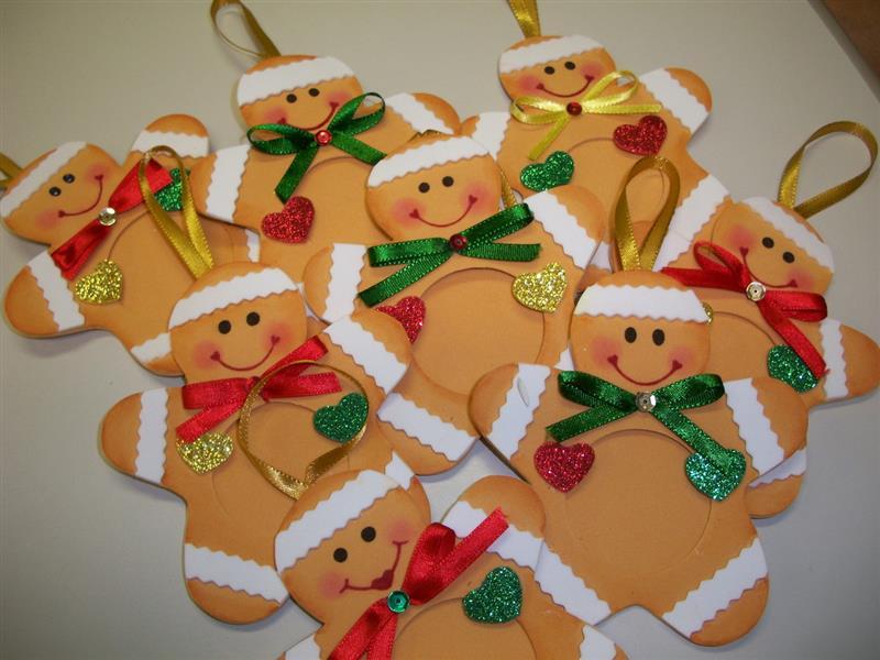 Porta retrato em formato de biscoito de Natal