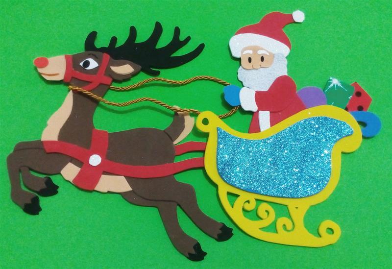 Papai Noel no trenó em eva