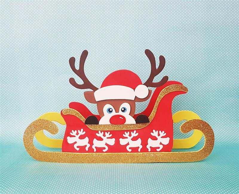 Trenó do Papai Noel em EVA com rena