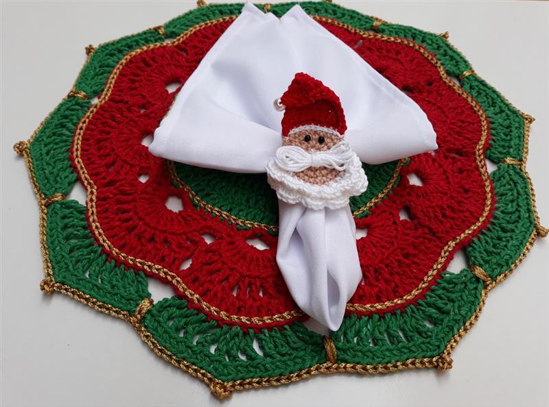 Sousplat natalino de barbante