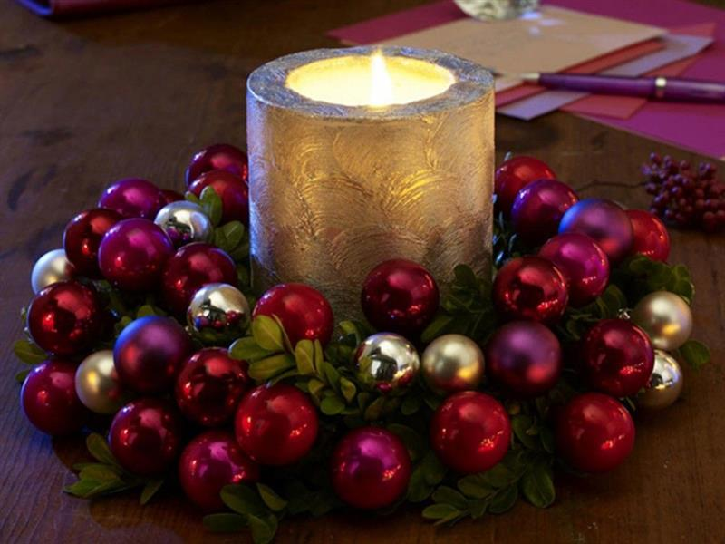 Centro de mesa para mesa de Natal