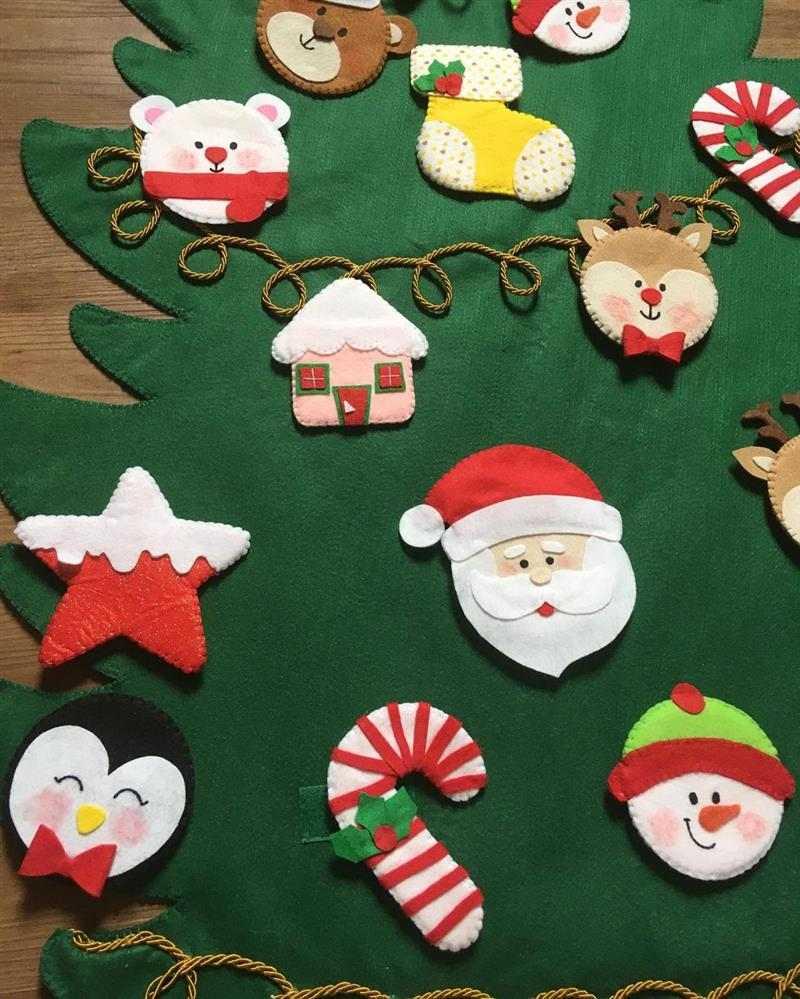 Enfeites de Natal de feltro