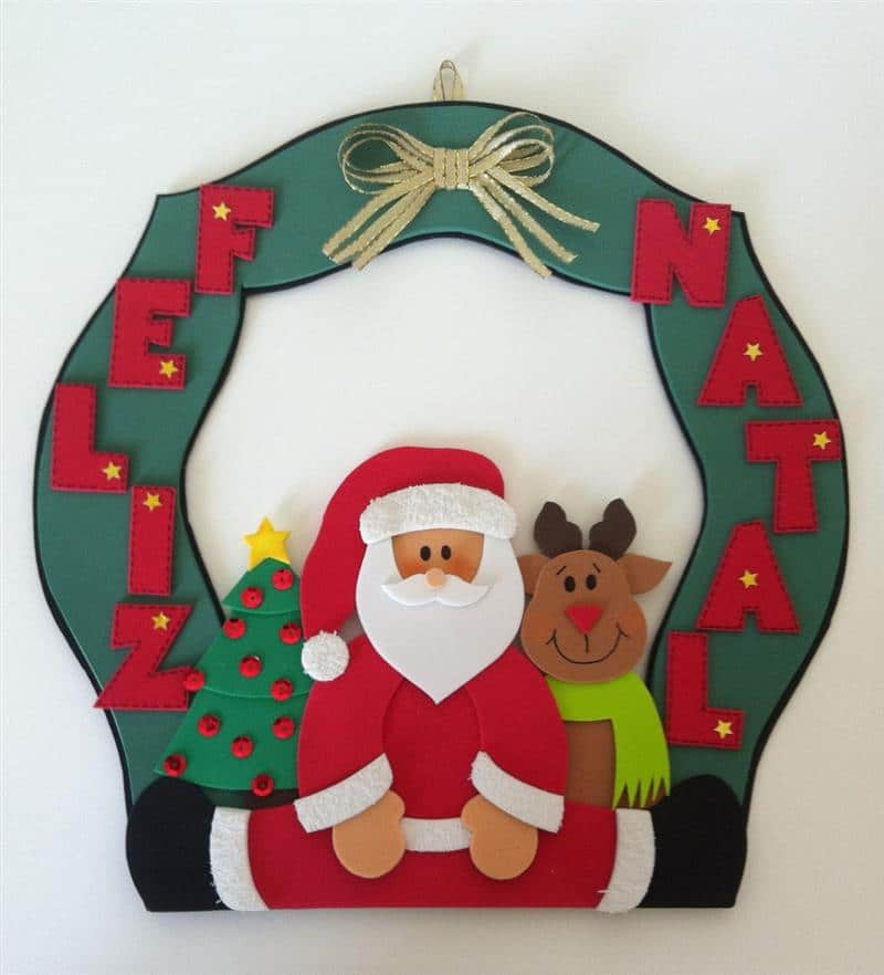 Guirlanda de Natal em EVA para porta