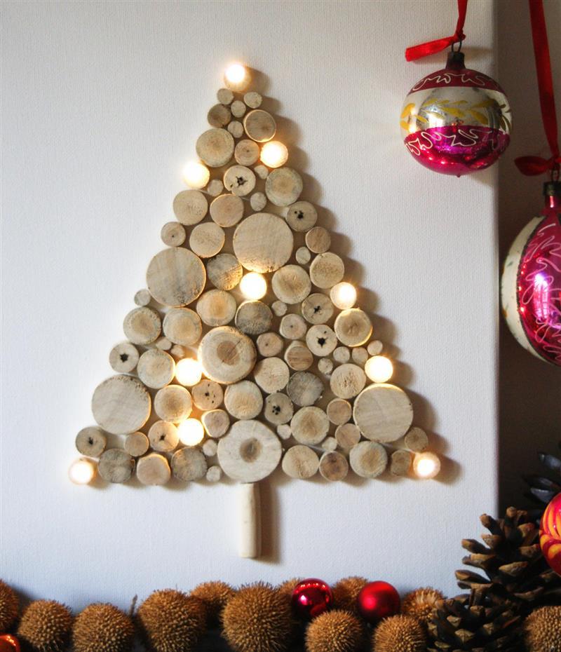 de parede feita com madeira