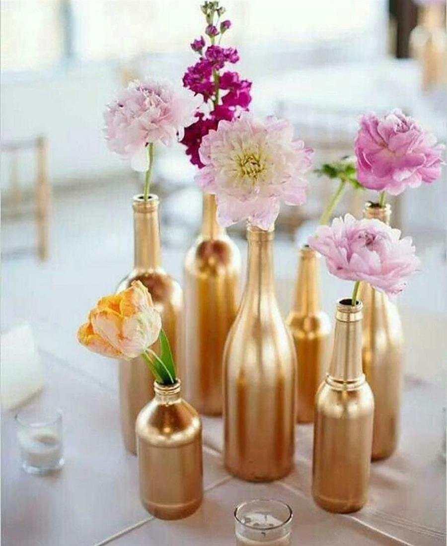 garrafas decoradas para festa da virada