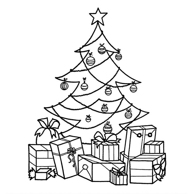 desenho de árvore de natal pequena